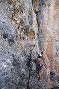 Rock Climbing Photo: Chris starting up.