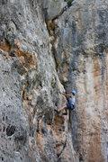 Rock Climbing Photo: Anna further up.