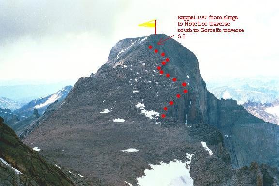 Rock Climbing Photo: The route as seen from Mt. Meeker.