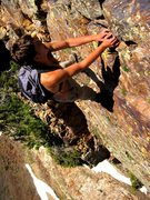 """Rock Climbing Photo: mark on an """"exposed"""" move traversing sup..."""