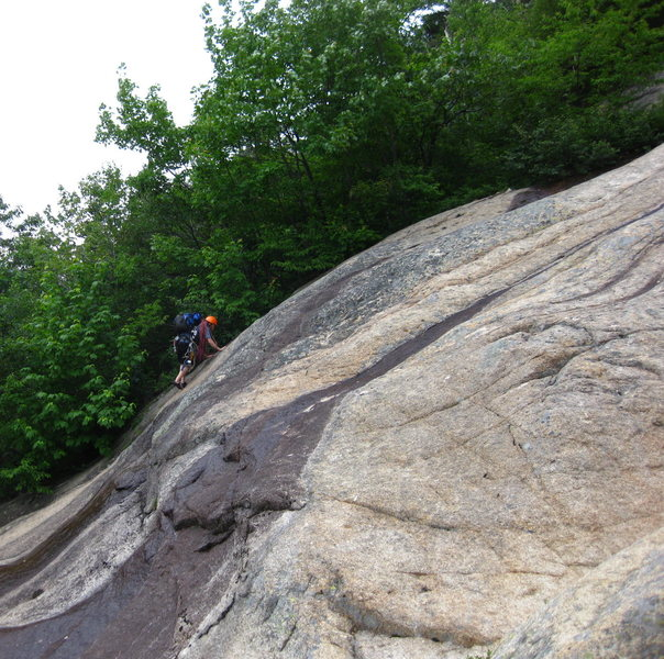 Ryan soloing the slab.