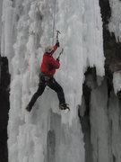 Rock Climbing Photo: Ice climbing in Ouray, CO.  January 2009.