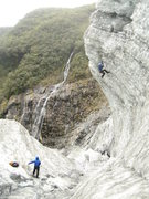 Rock Climbing Photo: Ice climbing on the Franz Josef Glacier. South Isl...