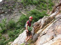 Rock Climbing Photo: Close up of Tak.