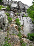 Rock Climbing Photo: Right side of the first buttress above the slab. I...