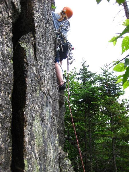 Ryan beginning the climb.
