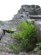 Rock Climbing Photo: Ryan below crux second rock pitch.