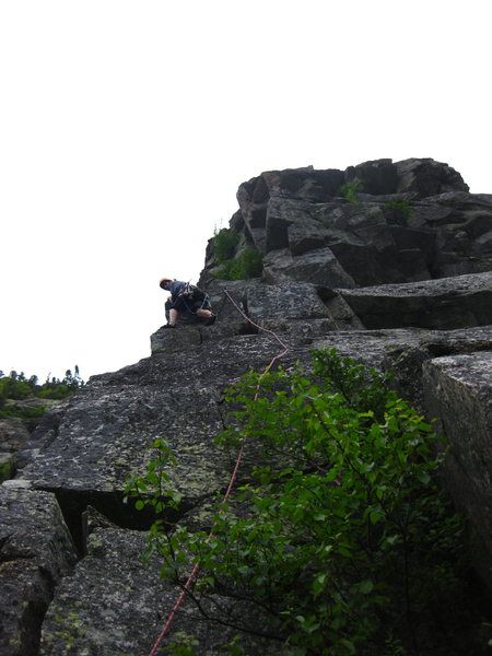 Rock Climbing Photo: Ryan checking out the other side of the ridge.