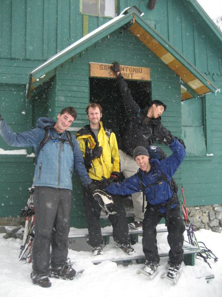 Snowshoeing on Mt Baldy.  February 2009.