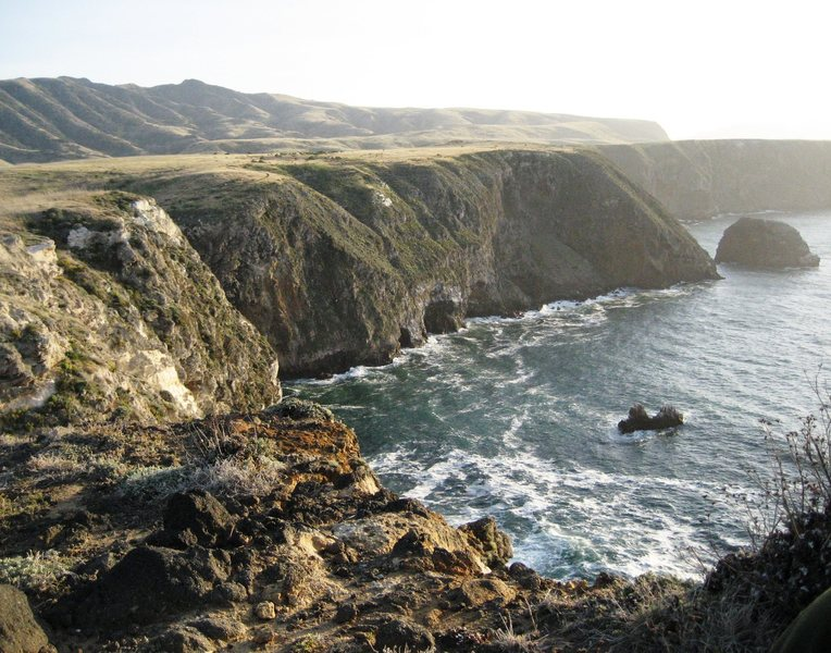 The rugged coast of Santa Cruz Island - Channel Islands National Park. May 2007.