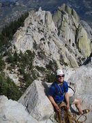 Rock Climbing Photo: Climbing at The Needles in southern Sierra.  Septe...