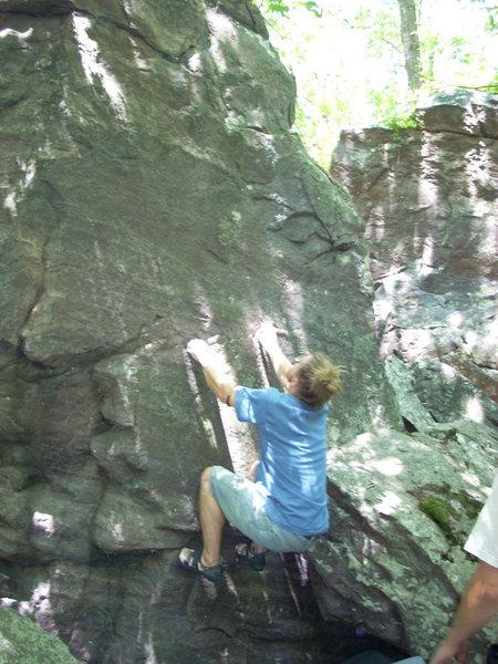 Rock Climbing Photo: Vinny on the start.