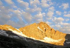 Rock Climbing Photo: Morning light on McHenry's Peak.