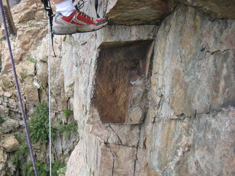 Rock Climbing Photo: missing block