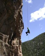 Rock Climbing Photo: Mark Ronca retreating from an early attempt -- he'...