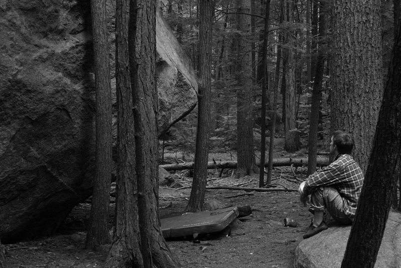 Rock Climbing Photo: mike thompson resting between goes and meditating ...