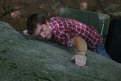 Rock Climbing Photo: Mike doing battle with The Terrorist...