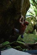 Rock Climbing Photo: The traverse on Octernal