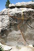Rock Climbing Photo: Conquest Direct Topo