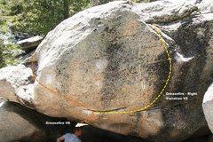 Rock Climbing Photo: Greasefire Boulder East face Topo