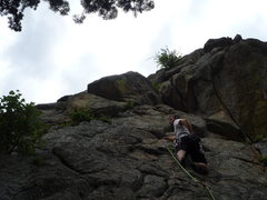 Rock Climbing Photo: On the slab.