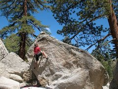 Rock Climbing Photo: Getting ready to reach for the lip on Tooth or Dar...