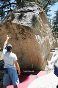 Rock Climbing Photo: Tooth or Dare (Problem A) Topo