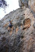Rock Climbing Photo: Anna starting the crux