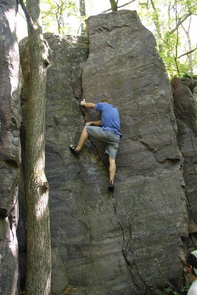 NU climber Vince.