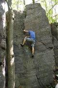 Rock Climbing Photo: NU climber Vince.