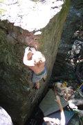 Rock Climbing Photo: Vinny with the FA.