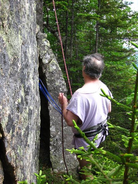 Rock Climbing Photo: I'm doing the belay.