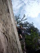 Rock Climbing Photo: Rhoads on The Bishop.