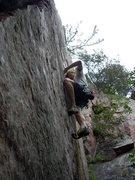 Rock Climbing Photo: Leading Sickle.