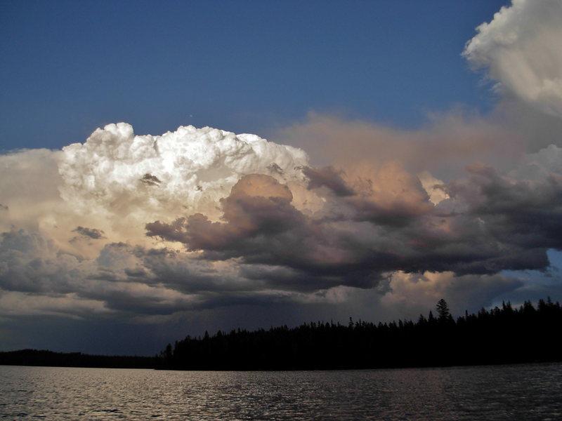 Teton storm over Leigh Lake.