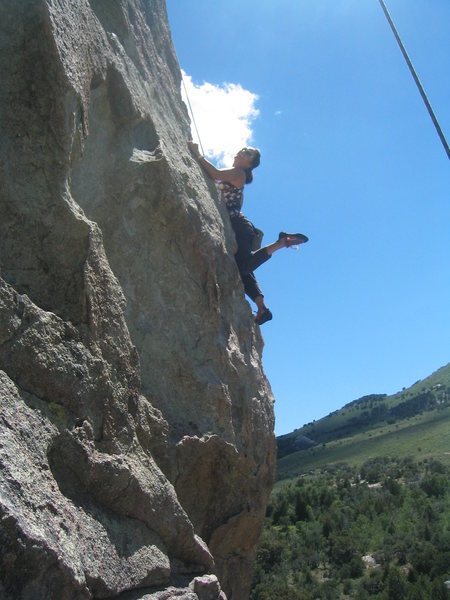 Rock Climbing Photo: My wife hitting the sweet spot after styling the o...