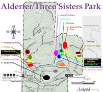 Rock Climbing Photo: Map of the bouldering areas in Alderfer/Three Sist...