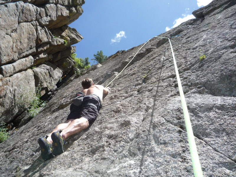 Rock Climbing Photo: It's a slab but it's not easy!