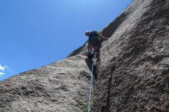 "Rock Climbing Photo: Chuck Grossman on the ""left"" variation. ..."