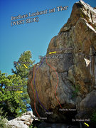 """Rock Climbing Photo: Photo beta for the """"Harbored Wall #2."""""""
