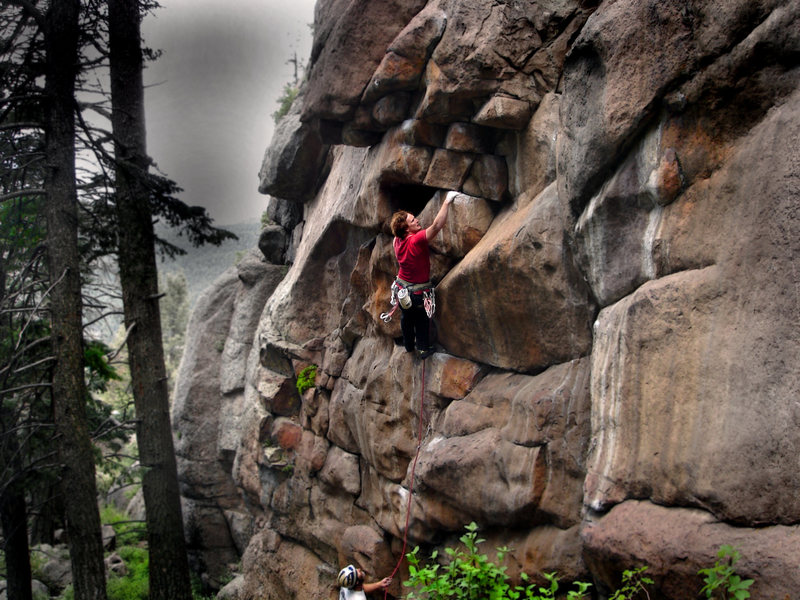 "Rock Climbing Photo: Luke Childers sending ""Starting Blocks."""
