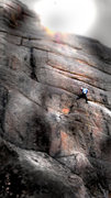 "Rock Climbing Photo: Luke Childers finding no dilemma on ""Dave's D..."
