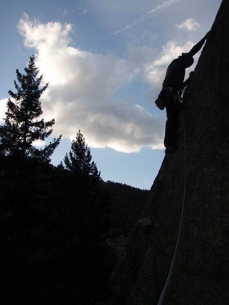 Rock Climbing Photo: Climbing Incline Club in the shadows of the late a...