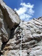 Rock Climbing Photo: Jeremy on Chasing Sticks (5.9).