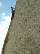 Rock Climbing Photo: Lance climbing the 1st 5.11 pitch.