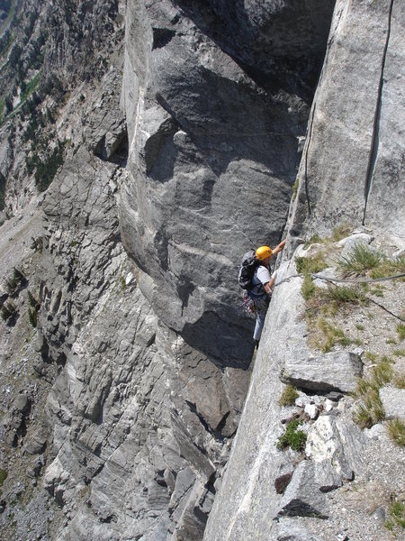 S Buttress Right - 5.10 pitch above Great Traverse