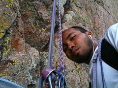 Rock Climbing Photo: 3rd Belay Station.  The Second Coming (5.8)