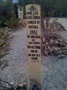 Rock Climbing Photo: Typical headstone, Boothill Graveyard