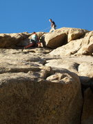 Rock Climbing Photo: The Dome 7.14.09- Jenna climbing East side of the ...