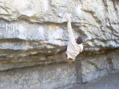 Rock Climbing Photo: v7 side pull 1995